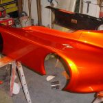 Copperhead Go Kart painted with our Gold Ghost Pearl®