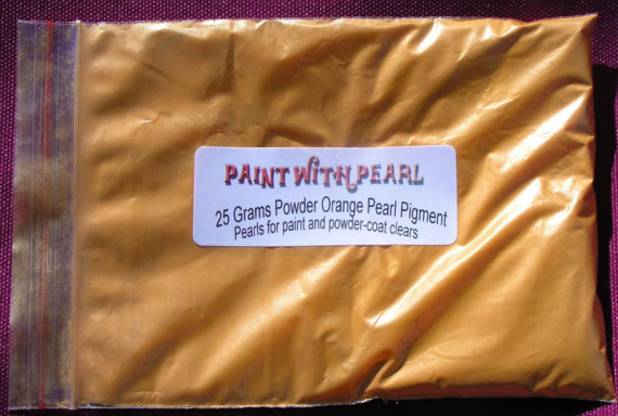 25 Gram Bag of Bright Orange Candy Pearls