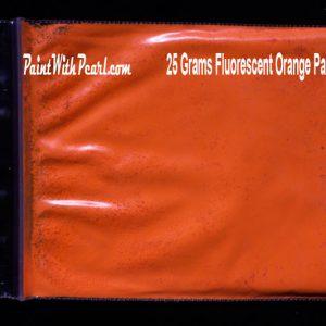 25 gram bag of orange-fluorescent-paint-pigment