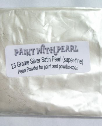 25 gram bag of Silver Satin Ghost Pearl