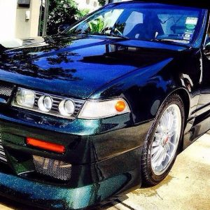 Nissan Cefiro with our Gold Green Blue Chameleon pearls.